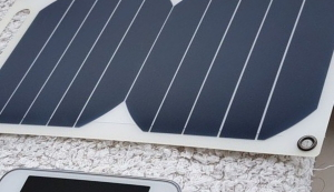 Portable solar power with phone