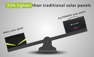 ALLPOWERS Solar Charger 100w - Lightweight